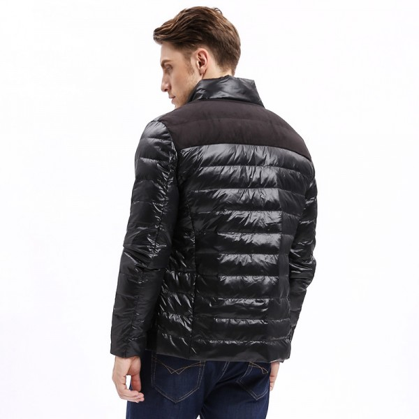 Vomint Winter Light Weight Men Down Jacket Casual Back Stitching Slim Fit Warm Down Coat Stand Collar Male Extra Image 3