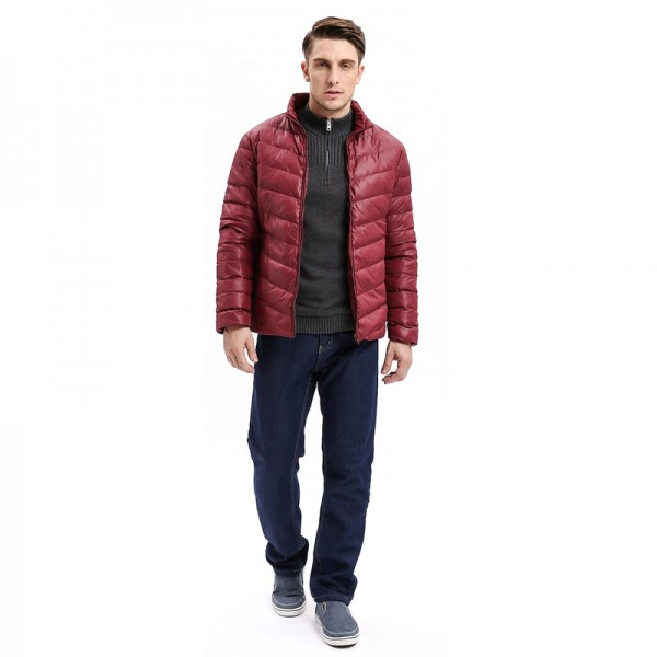 Vomint Winter New Mens Down Jacket Mid Weight Solid Color Slim Fit Warm Down Long Smart Casual Business Wear Extra Image 5