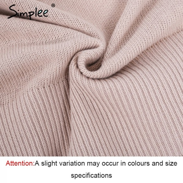 Waistband lace up knitted sweater women jersey Round neck casual knitting jumper Winter sweater pullover female Extra Image 6
