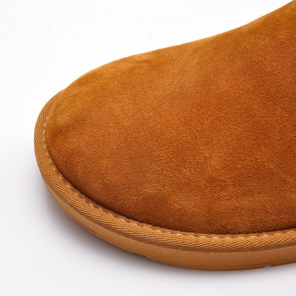 Warm Fur Snow Men Chelsea Boots Fashion Suede Slip On Ankle Snow Male Shoes Teenager Non Slip Footwear Extra Image 3