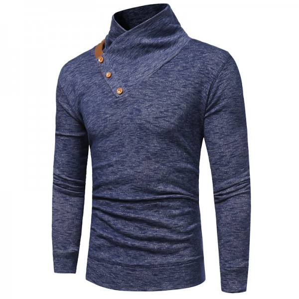 Warm Pullover Stand Collar Knitted Men Fashion Tracksuit Male Sweatshirt Hoody Mens Multi Purpose Tour Outfit