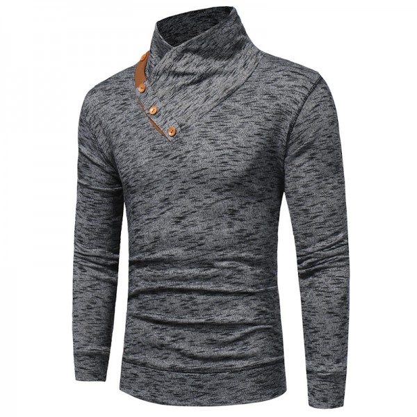 Warm Pullover Stand Collar Knitted Men Fashion Tracksuit Male Sweatshirt Hoody Mens Multi Purpose Tour Outfit Extra Image 2
