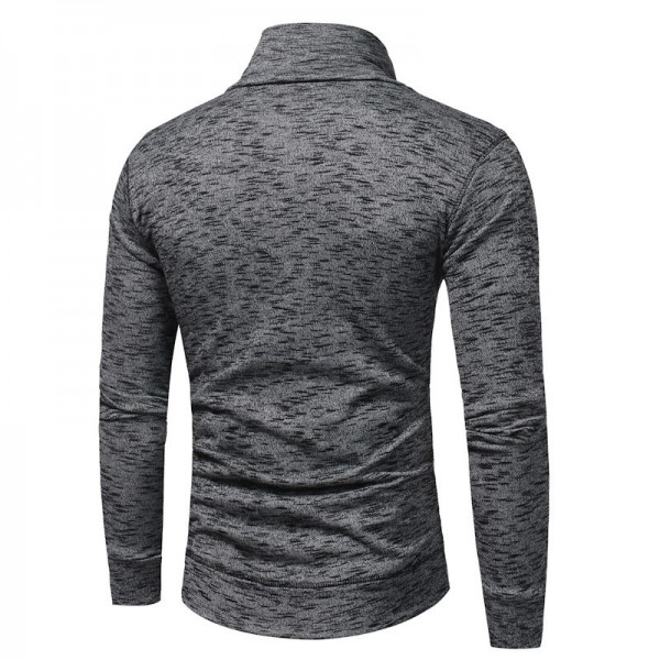 Warm Pullover Stand Collar Knitted Men Fashion Tracksuit Male Sweatshirt Hoody Mens Multi Purpose Tour Outfit Extra Image 3