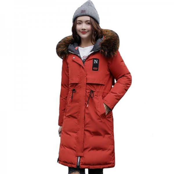 Warm Thick Winter Jacket Women Hooded Long Both Sides Wearable Street Wear Female Parka Parkas Coat Cotton Padded Extra Image 1