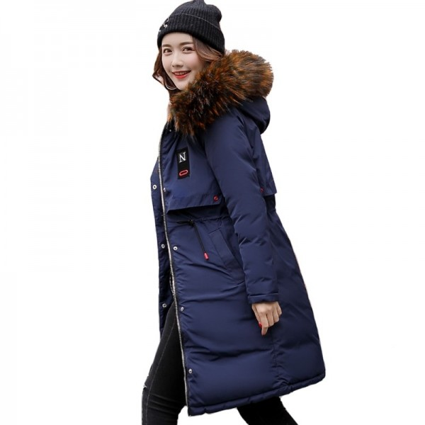 Warm Thick Winter Jacket Women Hooded Long Both Sides Wearable Street Wear Female Parka Parkas Coat Cotton Padded Extra Image 3