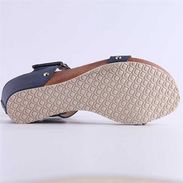 Wedge Heel Sandals Summer Shoes Woven Strap Fashion Beach Shoes Slippers Summer Women Sandals Casual Beach Slipper Extra Image 4