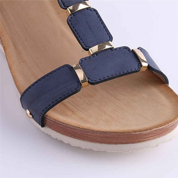 Wedge Heel Sandals Summer Shoes Woven Strap Fashion Beach Shoes Slippers Summer Women Sandals Casual Beach Slipper Extra Image 5