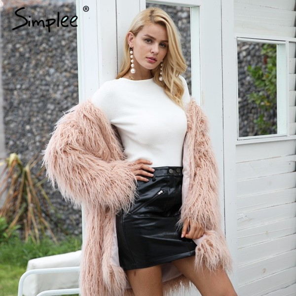 White knitted pullover sweater women Sexy elastic long sleeve knitting pullover Casual autumn winter jumper pullover Extra Image 5