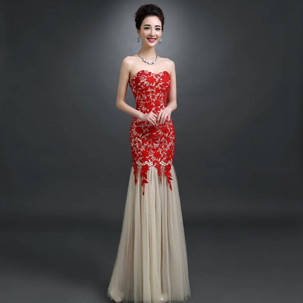 White Lace Prom Dresses Women Pegeant Dress For Wedding