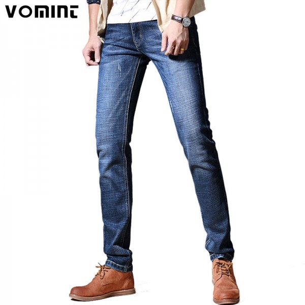 Winter Autumn Mens Skinny Jeans Slim Fit Washed Denim Pants Cotton Stretch Fashion Thick Jean Plus Size Male Trousers Extra Image 1