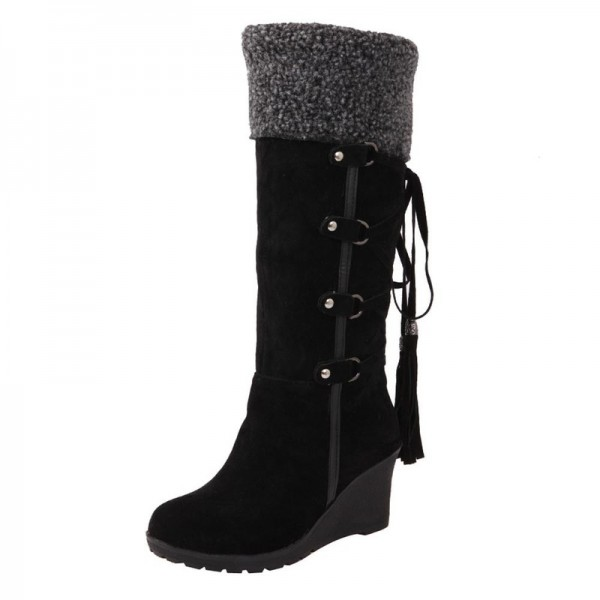 Winter Boots Women Fashion Snow Boots New High Heel Boots With Tassels Women Shoes Fashion Sexy Long Snow boots Extra Image 4