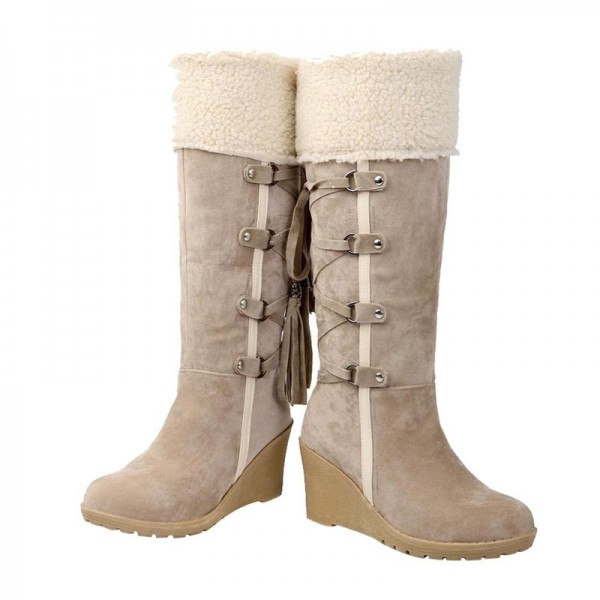 Winter Boots Women Fashion Snow Boots New High Heel Boots With Tassels Women Shoes Fashion Sexy Long Snow boots Extra Image 6