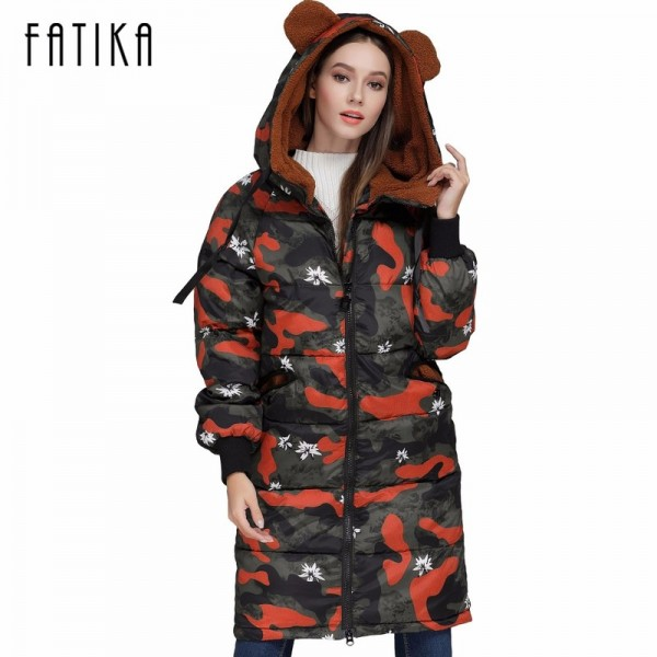 Winter Camouflage Female Parkas Jackets Military Overcoat For Women New Autumn Winter Collection Of Hooded Coats Extra Image 1