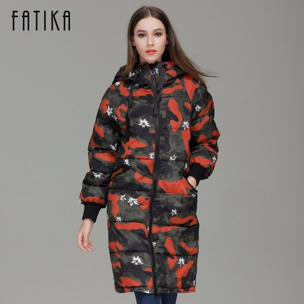 Winter Camouflage Female Parkas Jackets Military Overcoat For Women New Autumn Winter Collection Of Hooded Coats