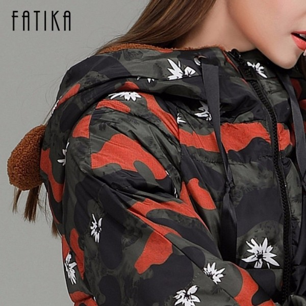 Winter Camouflage Female Parkas Jackets Military Overcoat For Women New Autumn Winter Collection Of Hooded Coats Extra Image 5