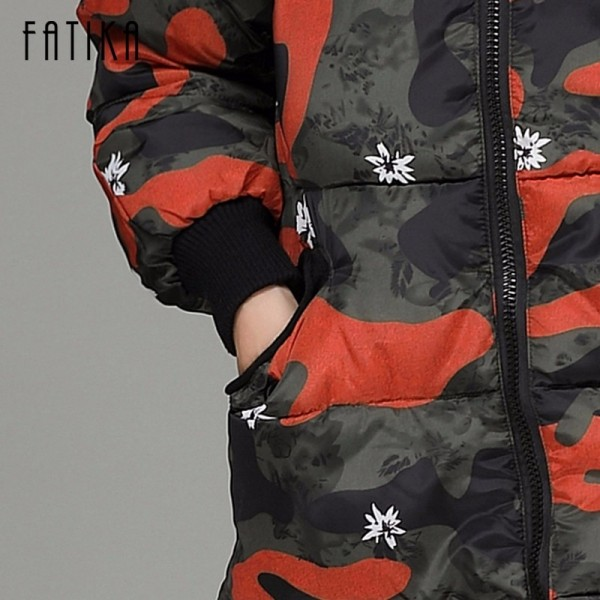 Winter Camouflage Female Parkas Jackets Military Overcoat For Women New Autumn Winter Collection Of Hooded Coats Extra Image 6