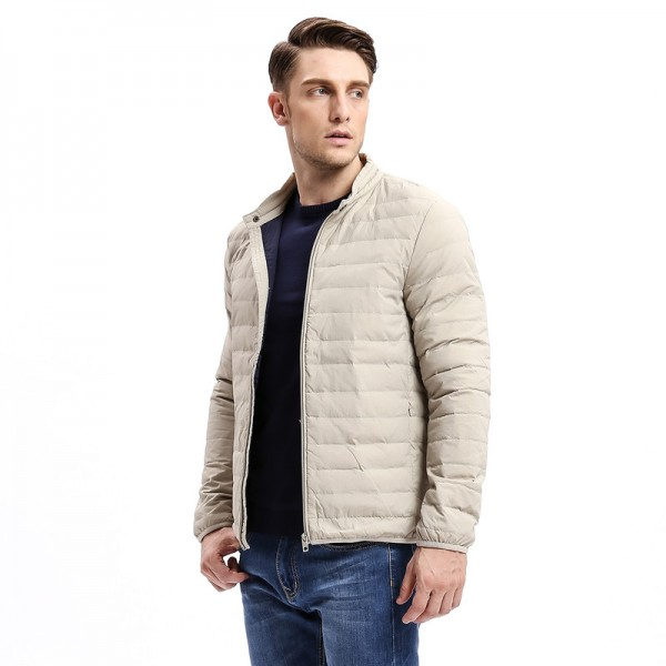 Winter Casual Solid Color Slim Fit Warm Down Coat Men Down  Light Weight Jacket Stand Collar Male Fashion Jackets Extra Image 3