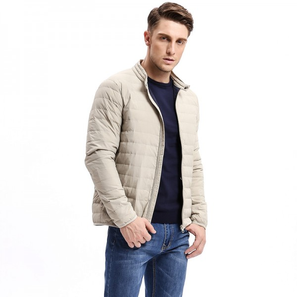 Winter Casual Solid Color Slim Fit Warm Down Coat Men Down  Light Weight Jacket Stand Collar Male Fashion Jackets Extra Image 4
