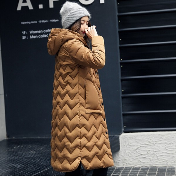 Winter Coat Women Parka Hooded Cotton Padded Long Coats Winter Jacket Women Manteau Femme Abrigos Mujer Extra Image 3