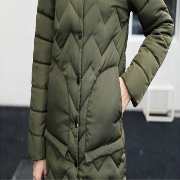 Winter Coat Women Parka Hooded Cotton Padded Long Coats Winter Jacket Women Manteau Femme Abrigos Mujer Extra Image 6