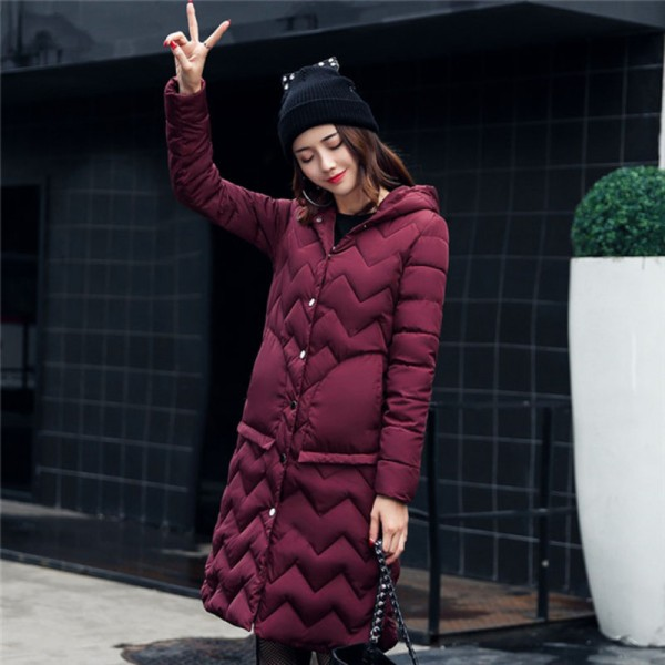 Buy Winter Coat Women Parka Hooded Cotton Padded Long Coats Winter ...