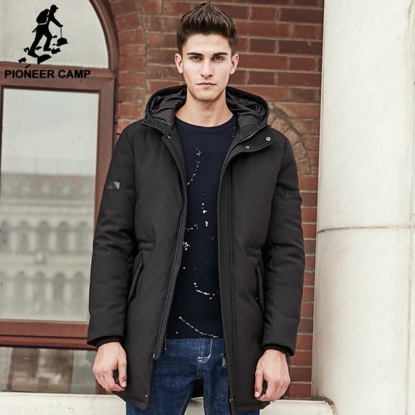 Winter Down Jacket Men New Pure white duck down coat Hooded Top quality brand clothing long male down parkas Extra Image 1