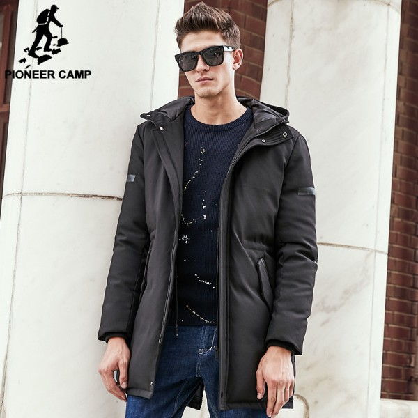Winter Down Jacket Men New Pure white duck down coat Hooded Top quality brand clothing long male down parkas Extra Image 2