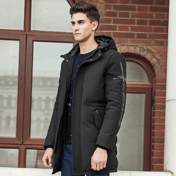 Winter Down Jacket Men New Pure white duck down coat Hooded Top quality brand clothing long male down parkas Extra Image 3