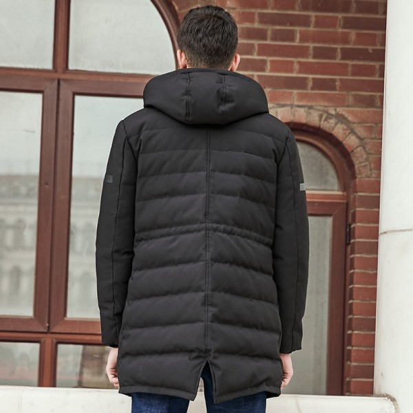 Winter Down Jacket Men New Pure white duck down coat Hooded Top quality brand clothing long male down parkas Extra Image 4