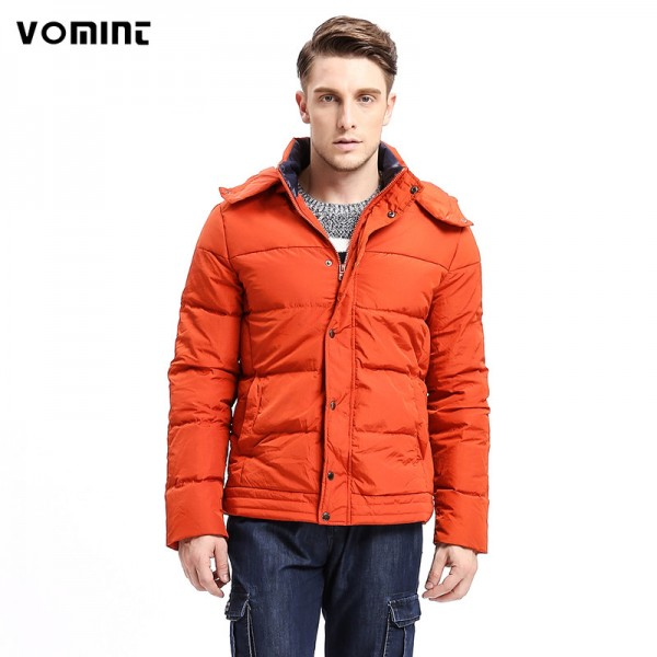 Winter Fashion New  Men Down Coat Hoodie Jacket Turn Down Warm Solid Color Fashion Down Multi Pockets Parka Extra Image 1