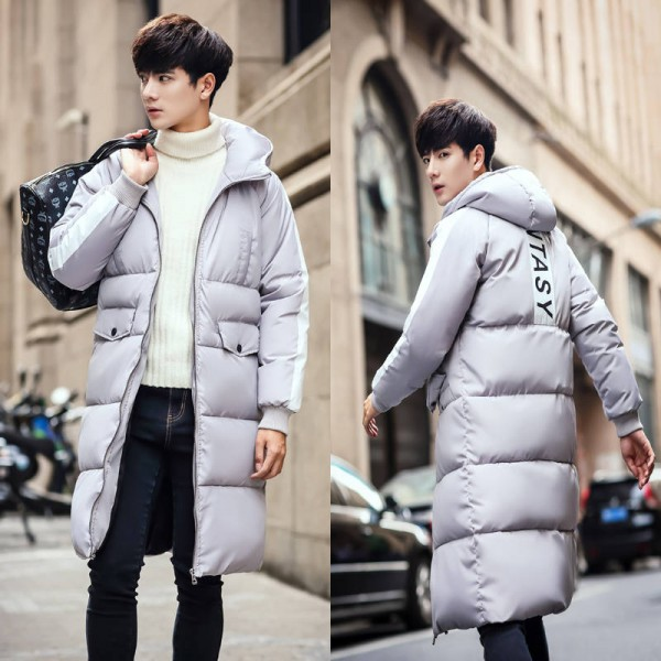 Winter Jacket Quilted Long Coat Parka Warm Down Length For Men New Latest Thumbnail