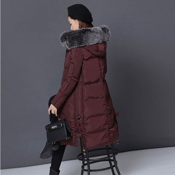 Winter Jacket Women New Large Fur Collar Coat Female Parkas Medium Long Warm Padded Cotton Winter Jackets Extra Image 4