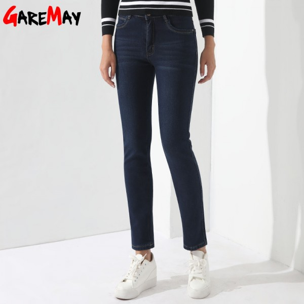 Winter Jeans Female High Waist Denim Skinny Warm Thick Jeans Mujer Plus Size Velvet Pants Women Stretch Pantalon Femme Extra Image 2