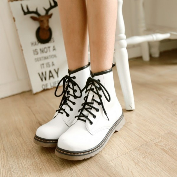 Winter Martin Boots Locomotive Design New Autumn Winter Collection Of Snow Boots Warm Leather Female Footwear Extra Image 2