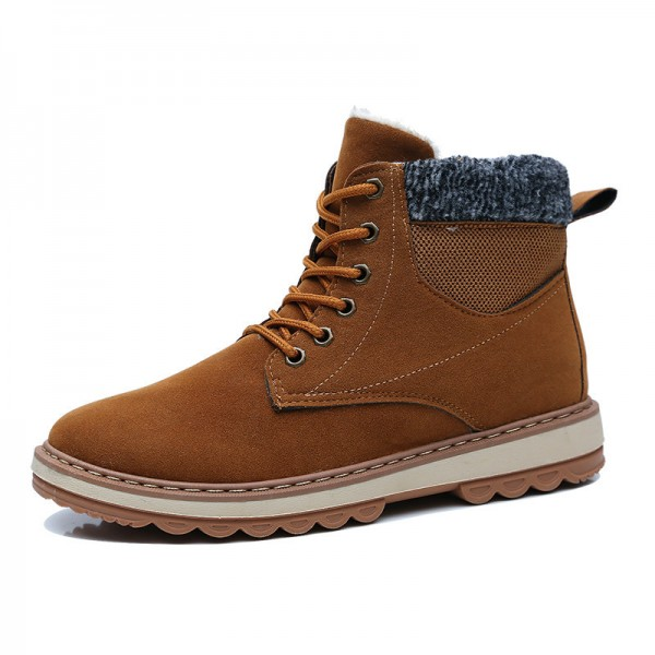 6a0a2ef99c74 Buy Winter Men Boots Fur Warm 2019 Men Shoes Winter Plush New Winter Boots  Men Top Quality Leather Ankle Boots