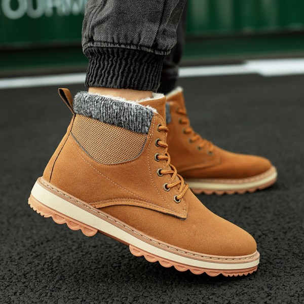 Winter Men Boots Fur Warm 2019 Men Shoes Winter Plush New Winter Boots Men Top Quality Leather Ankle Boots Extra Image 5