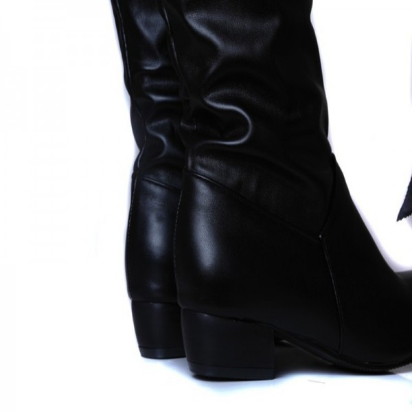 Winter Mid Calf Women Boots Black White Brown flats heels half boots autumn Snow Footwear Female Shoes Extra Image 5