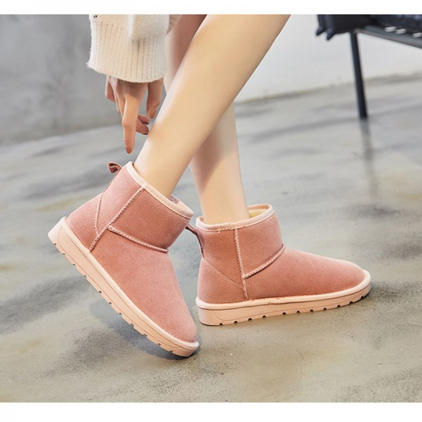 Winter new comfortable leather classic snow boots short tube wild explosion models warm womens cotton shoes Extra Image 4