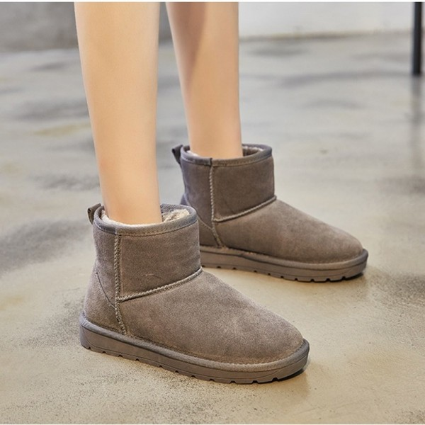 Winter new comfortable leather classic snow boots short tube wild explosion models warm womens cotton shoes Extra Image 5