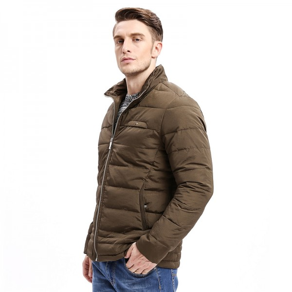 Winter New Men Parkas Smart Casual Jacket Zipper Button Bottom Design Thick Stand Collar Business Fashion Outwear Extra Image 3