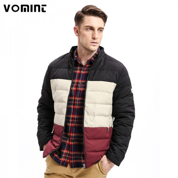 Winter New Mens Down Coat Jacket Three Colors Stitching Regular Fit Warm Turn Down Coats Fashion Business Outfit Extra Image 1