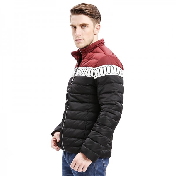 Winter New Mens Down Jacket Smart Casual Color Stitching Regular Fit Warm Down Coats Fashion Male Outwear Extra Image 3