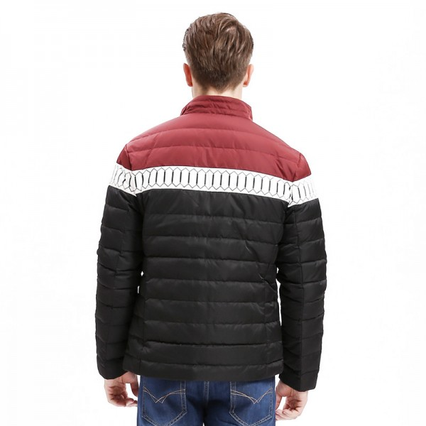 Winter New Mens Down Jacket Smart Casual Color Stitching Regular Fit Warm Down Coats Fashion Male Outwear Extra Image 4