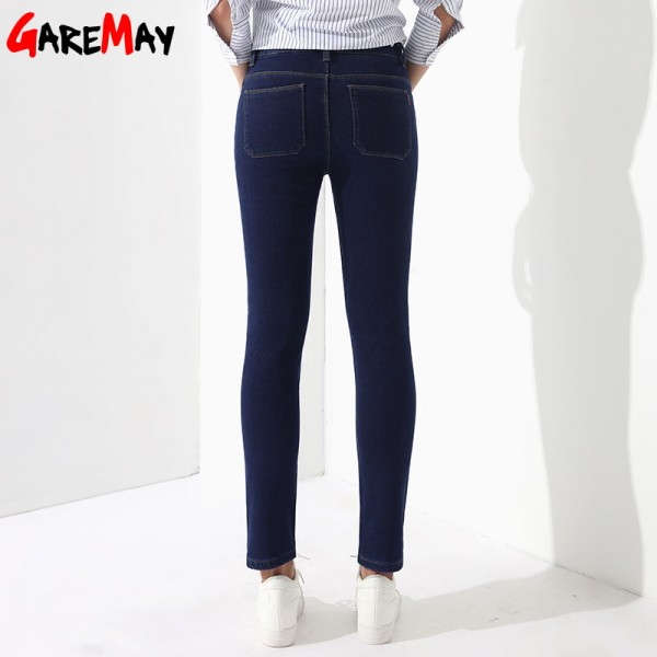 Winter Pants Jeans Female Velvet Warm Pencil Jeans Elastic Denim Thicken Pants For Women Pantalon Taille Haute Femme Extra Image 3