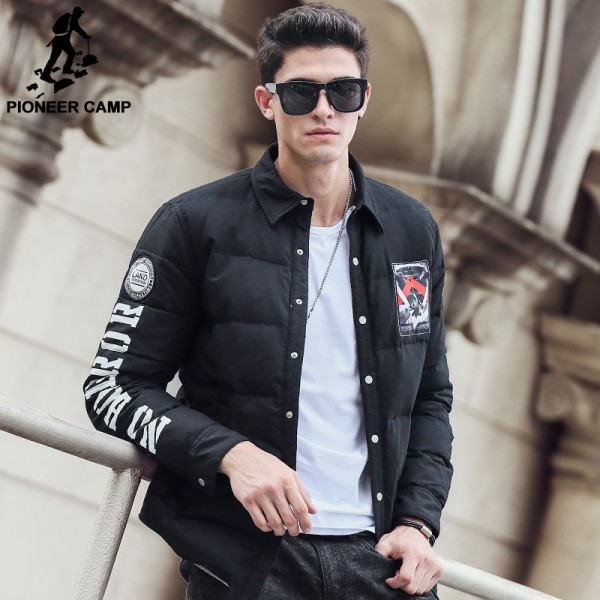 winter thick down jacket men brand clothing fashion male quality duck down coat casual warm black men parkas Extra Image 1