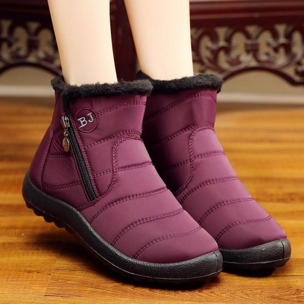 Winter women boots warm plush snow boots women shoes tube thick waterproof casual side zipper women ankle boots Extra Image 1