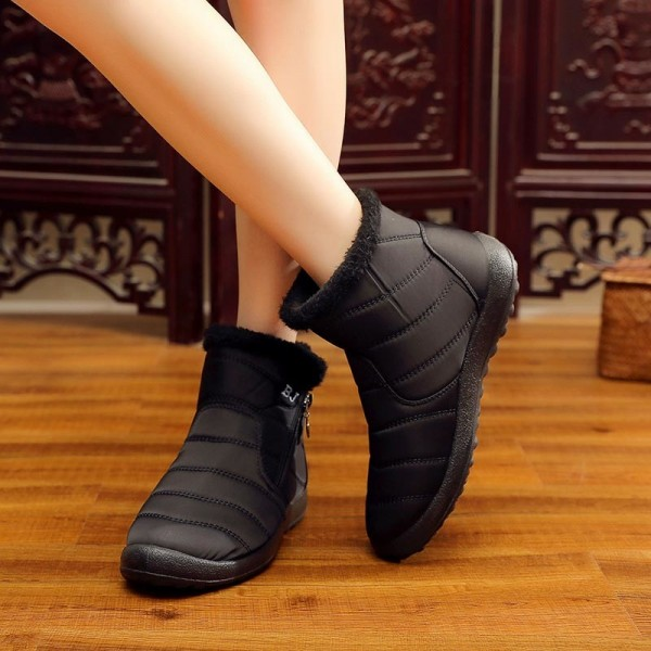 Winter women boots warm plush snow boots women shoes tube thick waterproof casual side zipper women ankle boots Extra Image 2