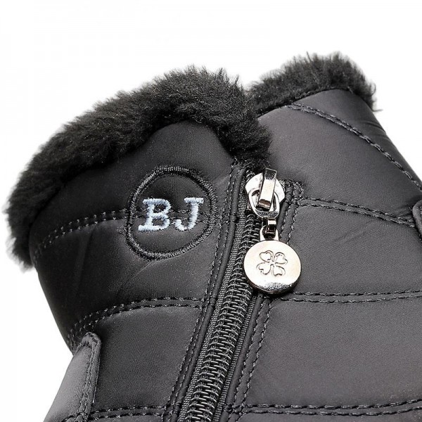 Winter women boots warm plush snow boots women shoes tube thick waterproof casual side zipper women ankle boots Extra Image 4