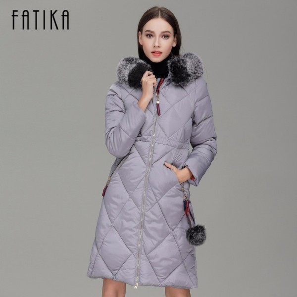 Winter Women Thick Parka Cotton Padded Fur Collar Hooded Parkas Plus Size Casual Slim Long Wadded Jackets for Woman Extra Image 2