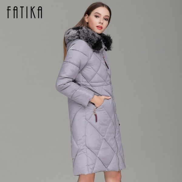 Winter Women Thick Parka Cotton Padded Fur Collar Hooded Parkas Plus Size Casual Slim Long Wadded Jackets for Woman Extra Image 4